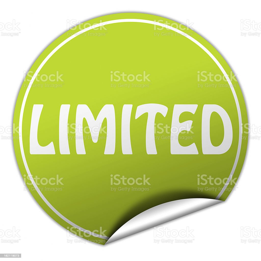 limited sticker royalty-free stock photo