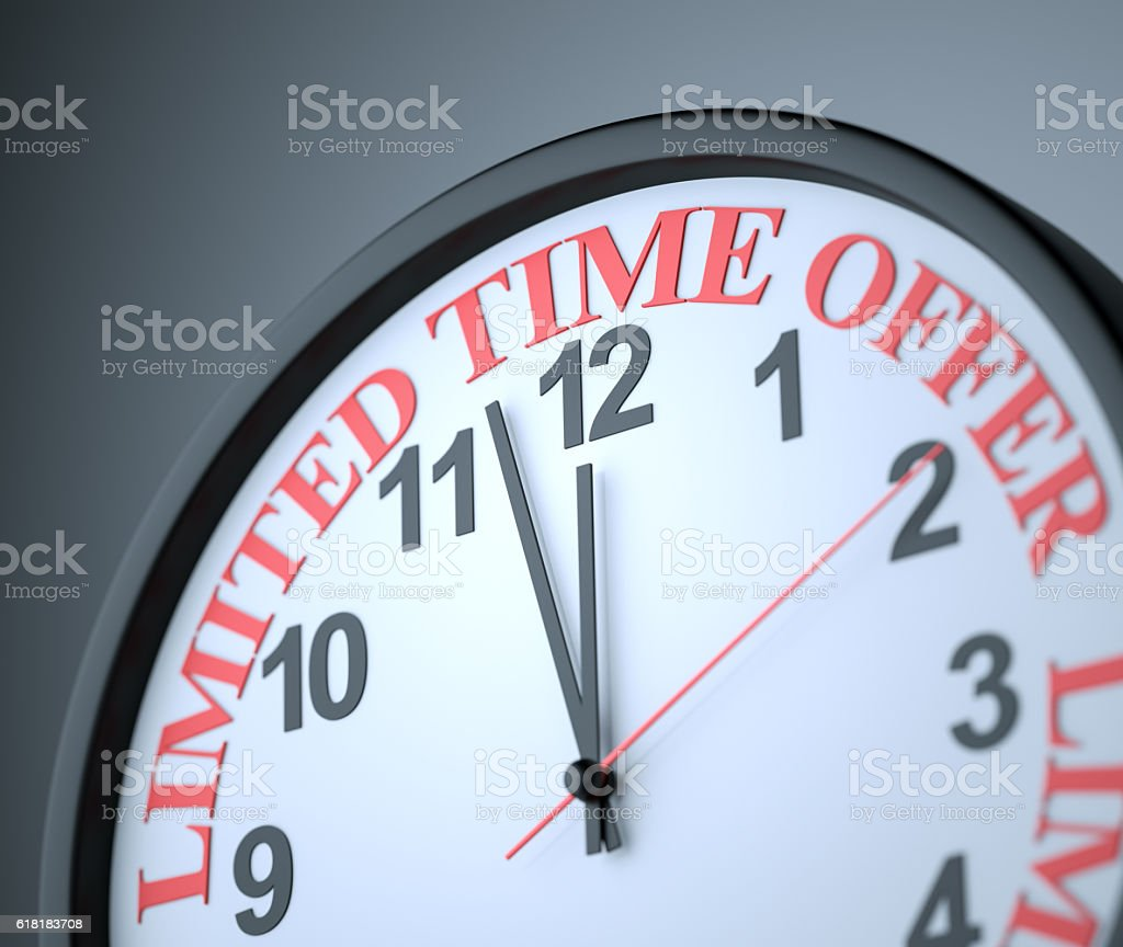 Limited Time Offer stock photo