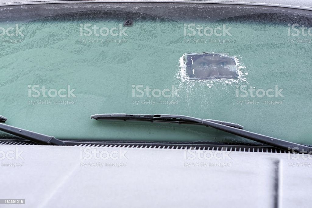 Limited View Driving royalty-free stock photo