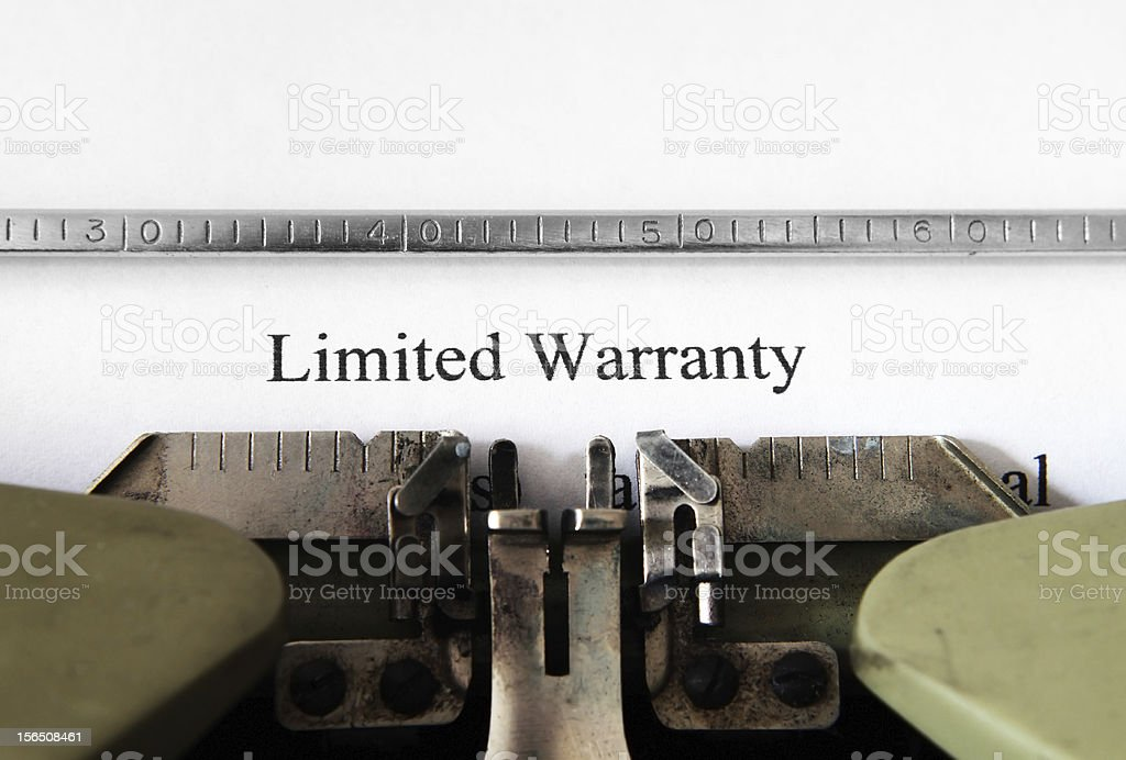 Limited warranty form royalty-free stock photo