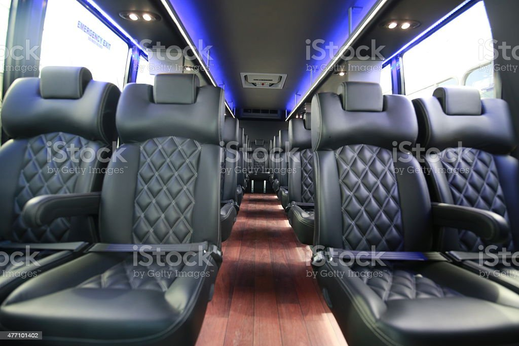 limo bus stock photo