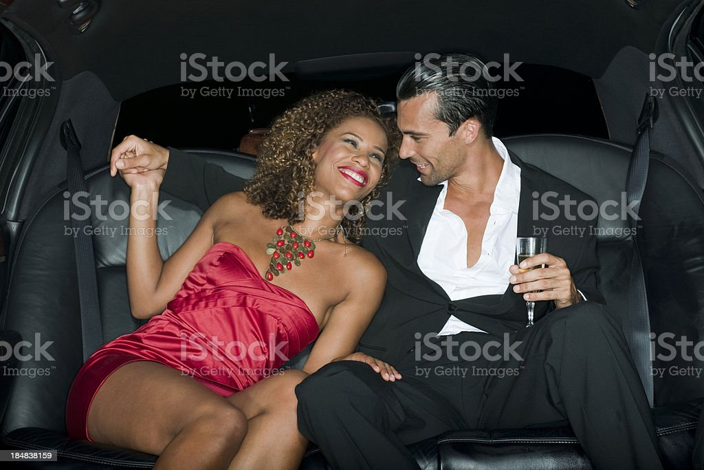 Limo Party stock photo