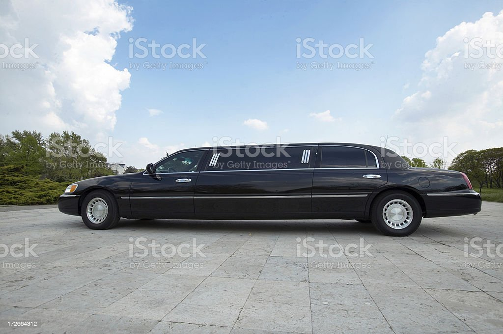 Limo side view stock photo