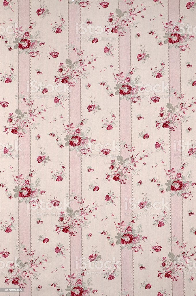 Limoge Wide Antique Floral Fabric royalty-free stock photo