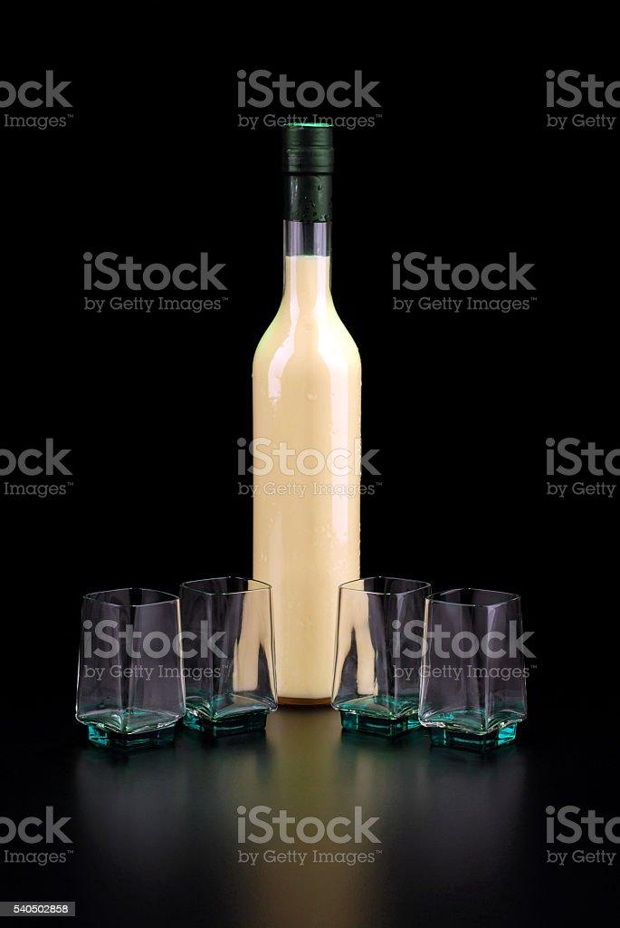 limoncello cream stock photo