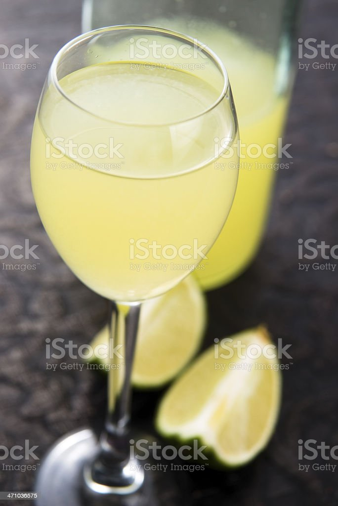 Limoncello Lemon Liqueur royalty-free stock photo