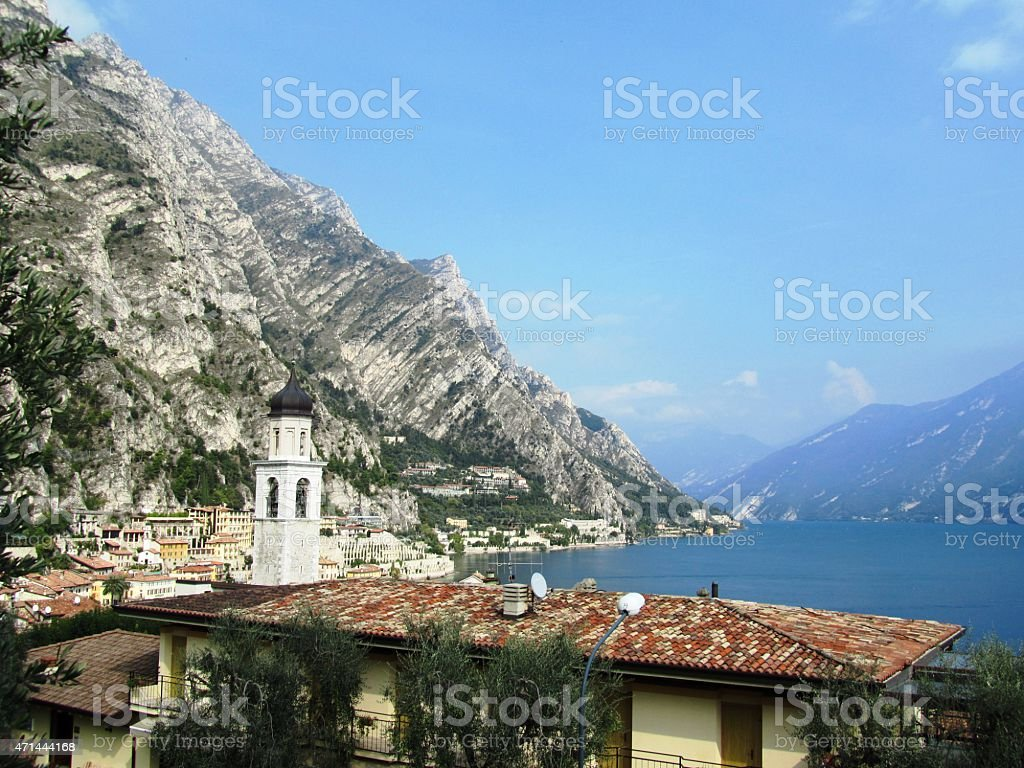 Limone sul Garda the western shore of Lake Garda Italy stock photo