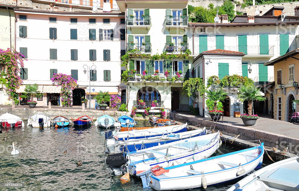 Limone sul Garda,Italy stock photo