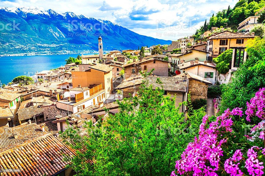 Limone,Lake of Garda,Italy stock photo