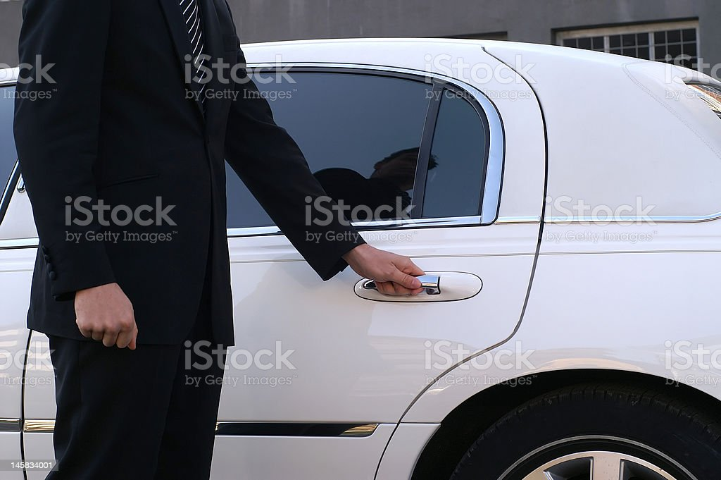 Limousine driver stock photo