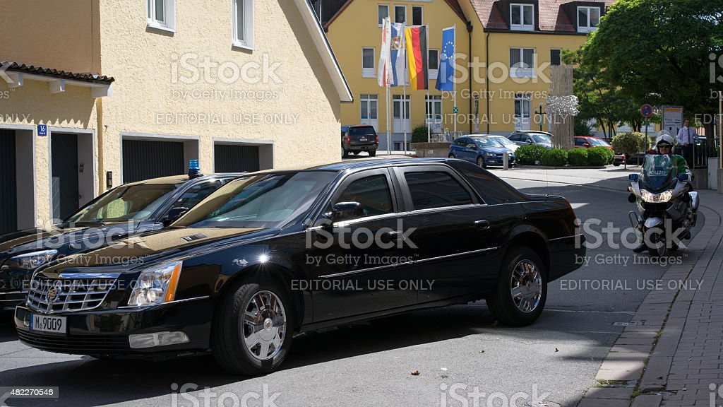 Limousine of ambassador of US in Bayreuth stock photo