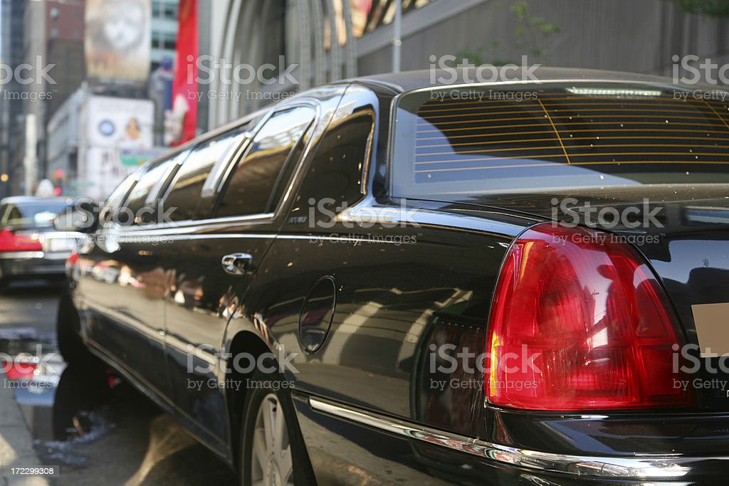 Limousine On Street, Close-Up stock photo