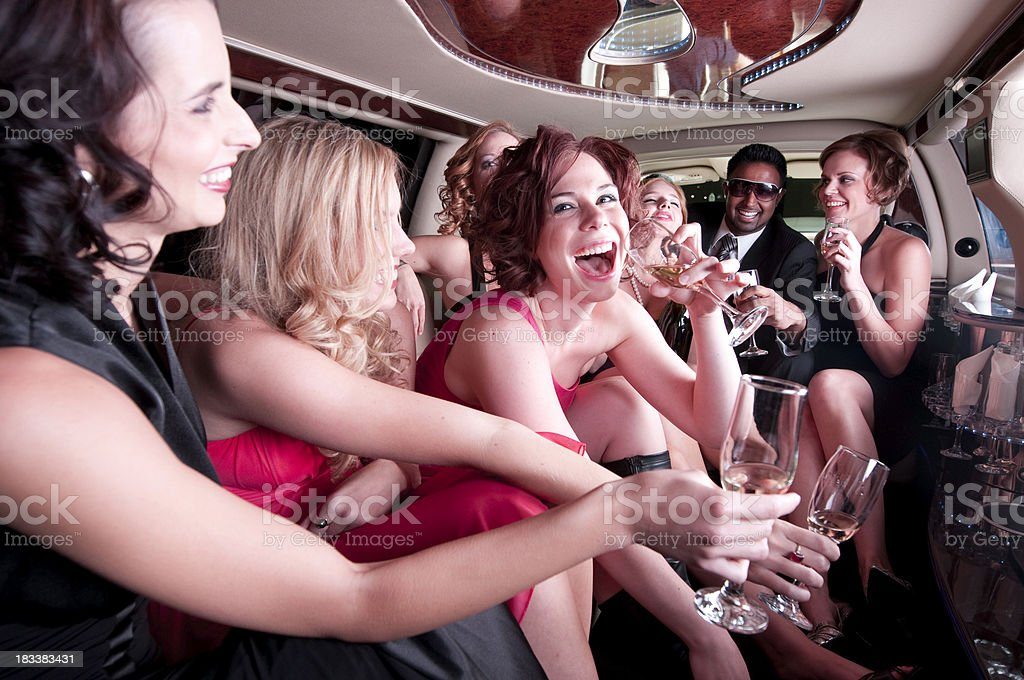 Limousine Party royalty-free stock photo