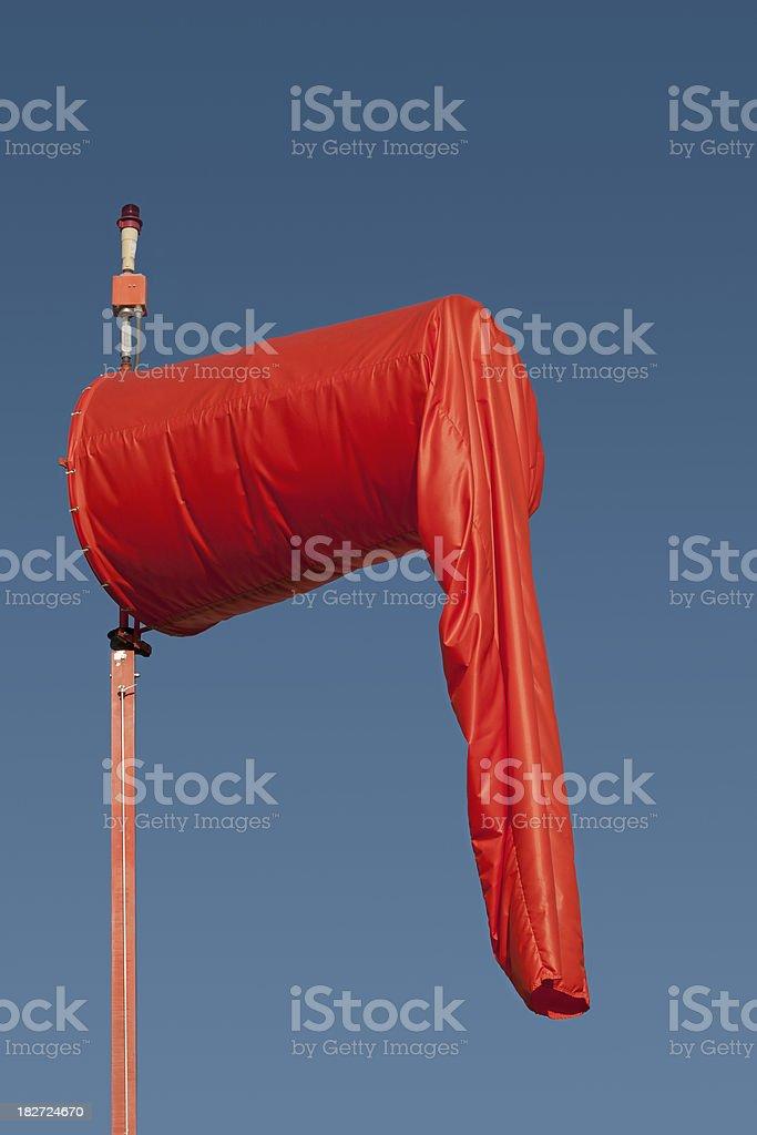 limp orange wind sock stock photo