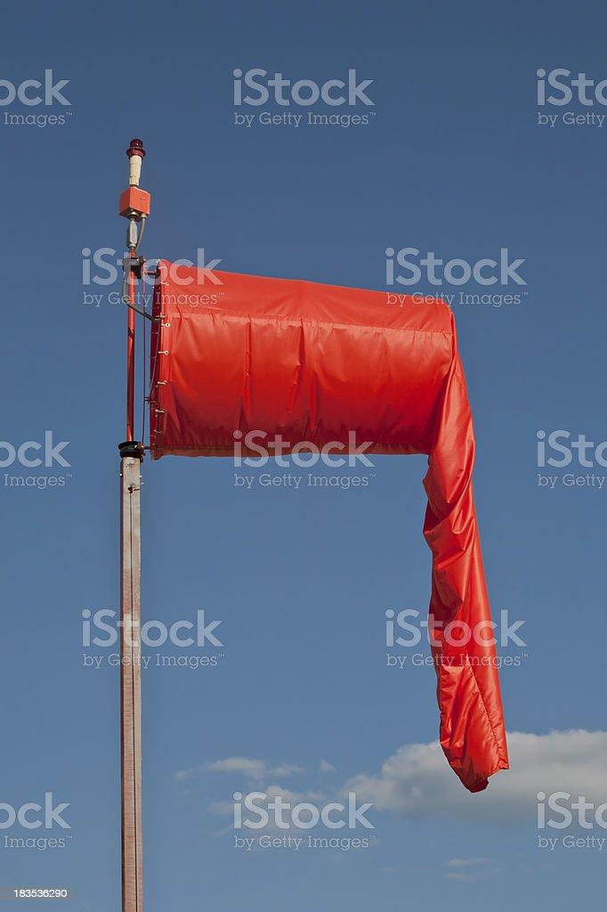limp orange windsock profile stock photo