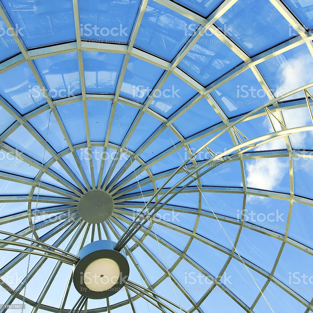 limpid round ceiling royalty-free stock photo
