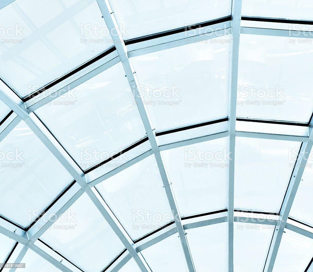 limpid round ceiling stock photo