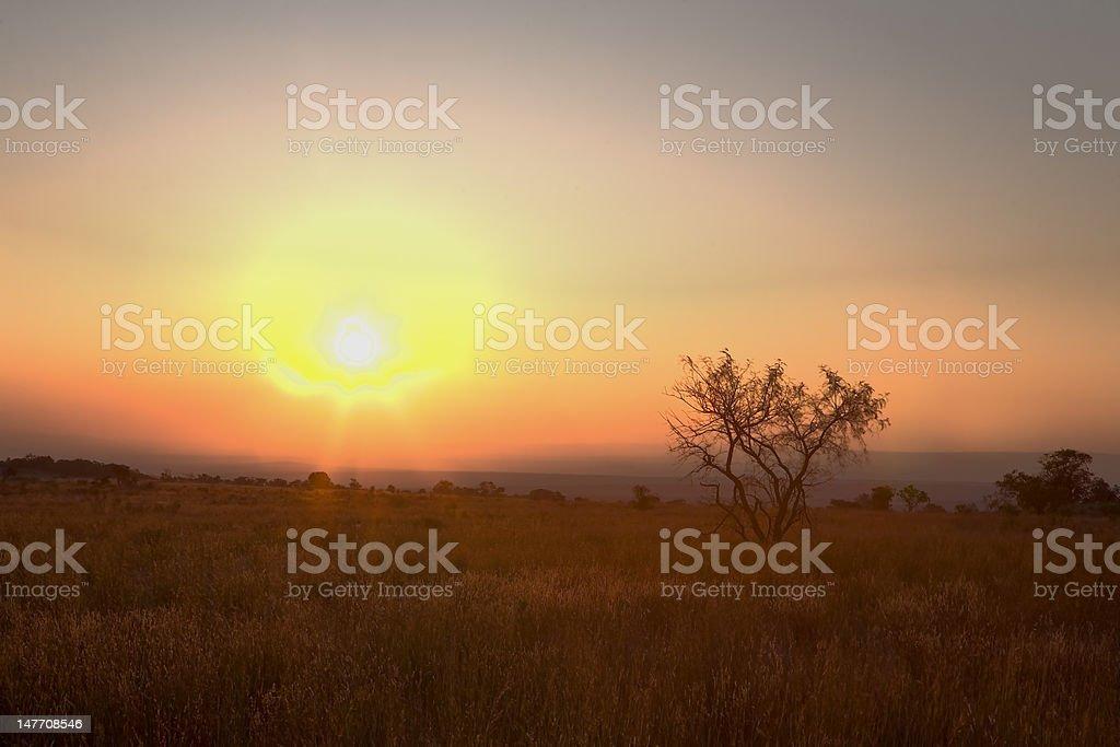 limpopo mountain sunset royalty-free stock photo