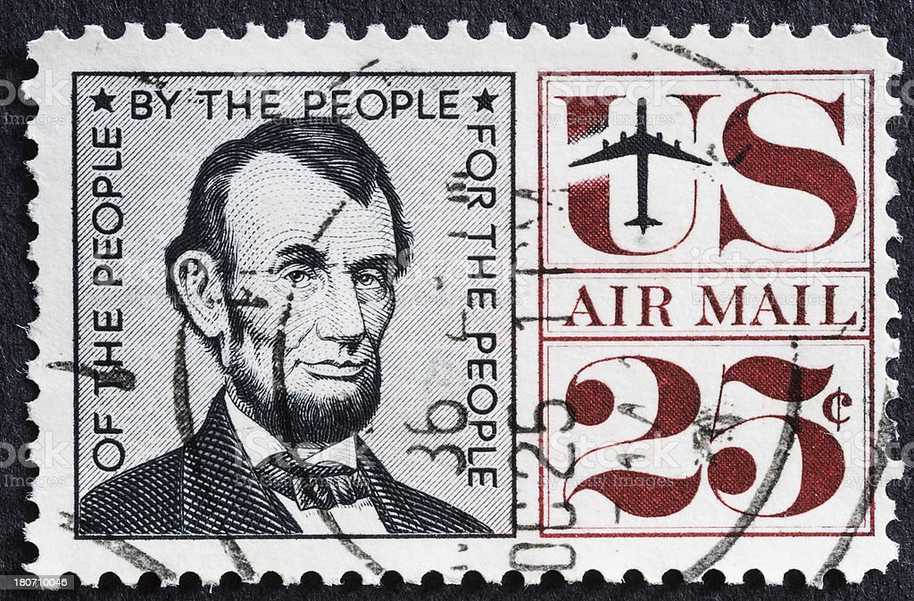Lincoln Airmail Stamp stock photo