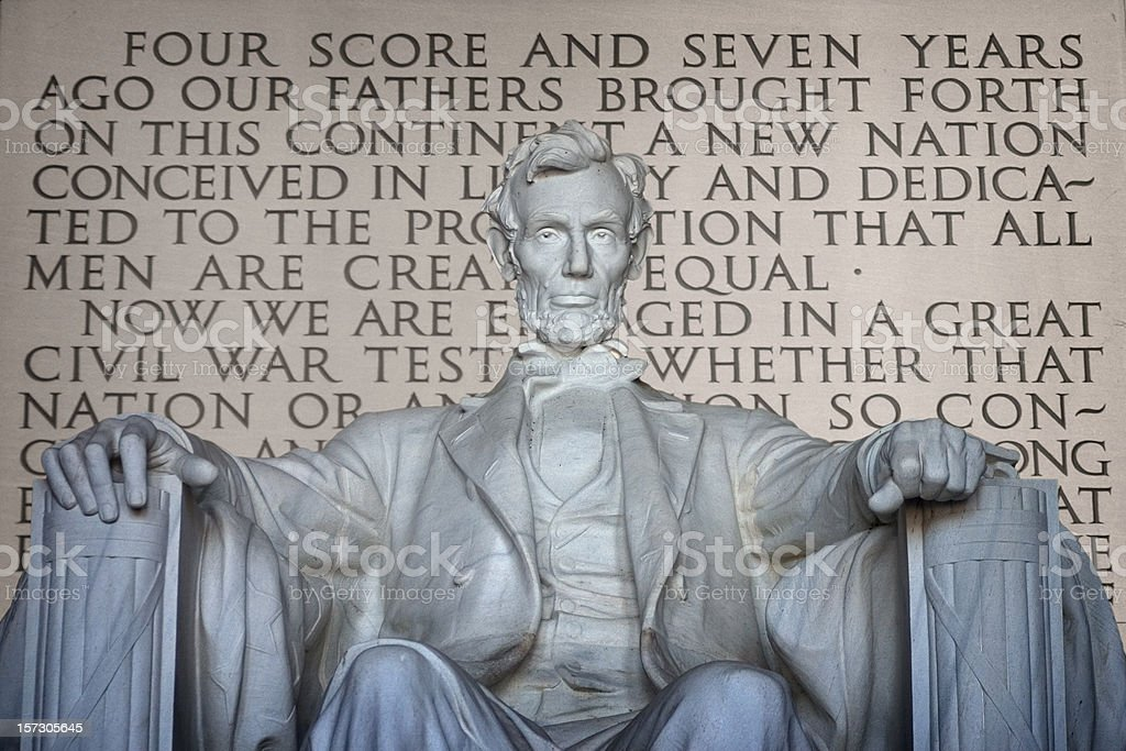 Lincoln and Gettysburg Address royalty-free stock photo