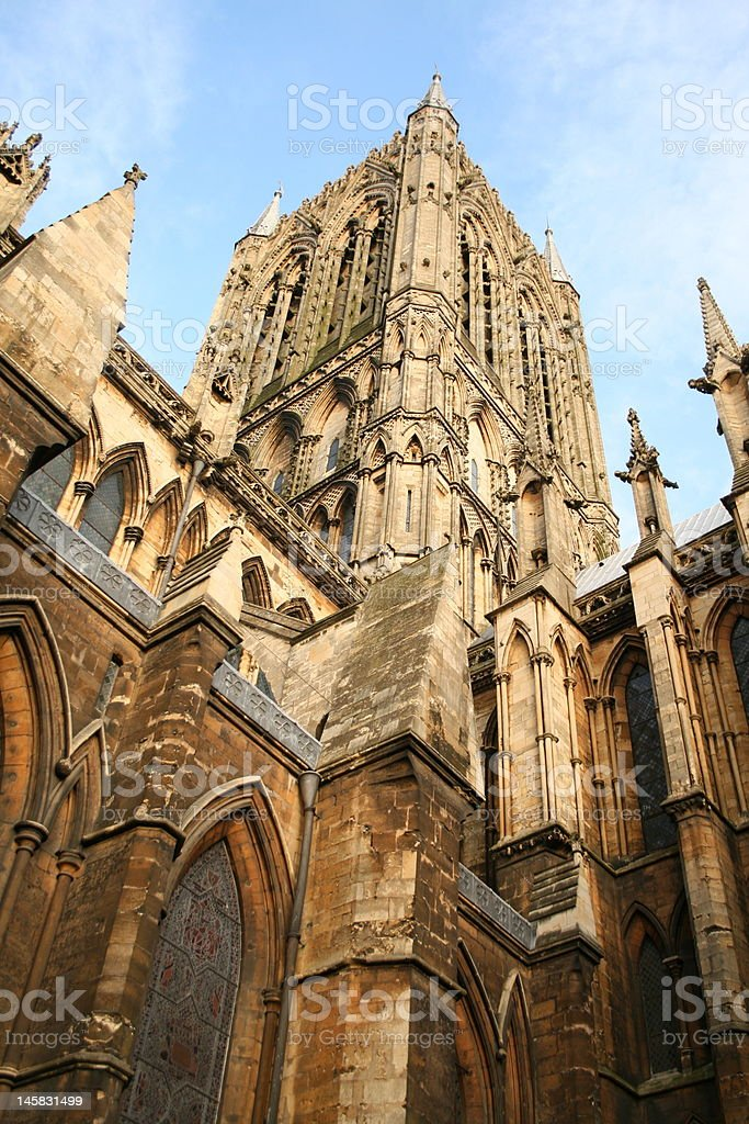 Lincoln Cathedral Central Tower royalty-free stock photo