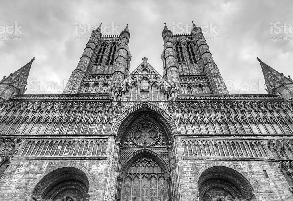 Lincoln Cathedral stock photo