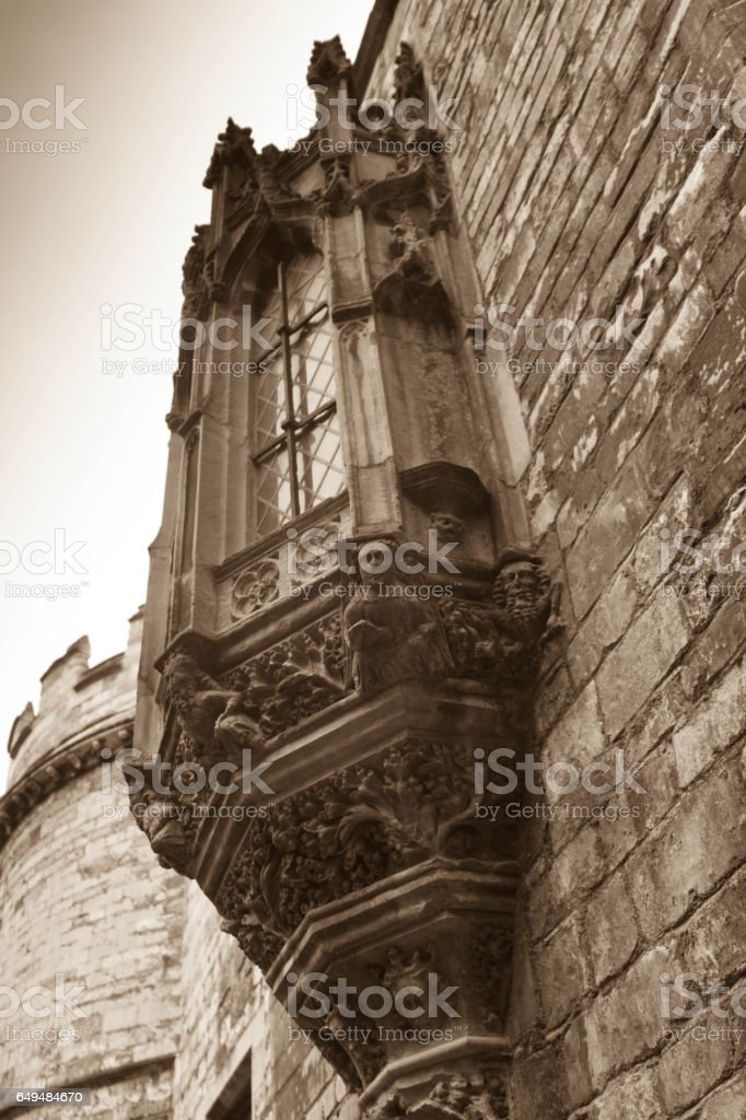 Lincoln Cathedral window stock photo