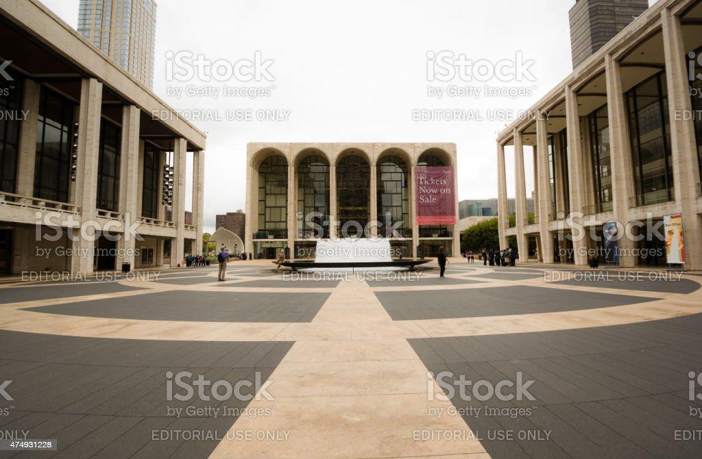 Lincoln Center in Manhattan of New York City stock photo