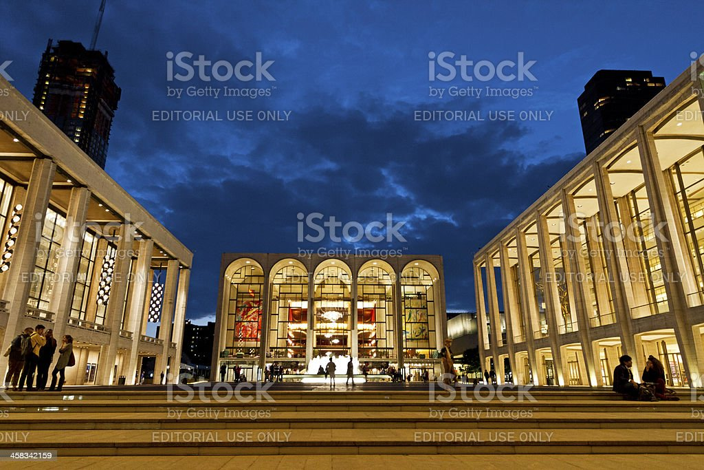 Lincoln Center New York stock photo