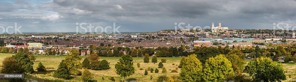Lincoln City Panorama stock photo