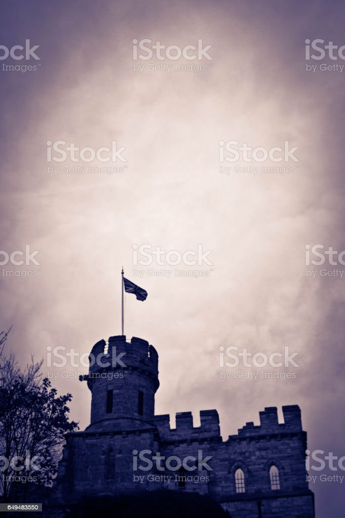 Lincoln city wall stock photo