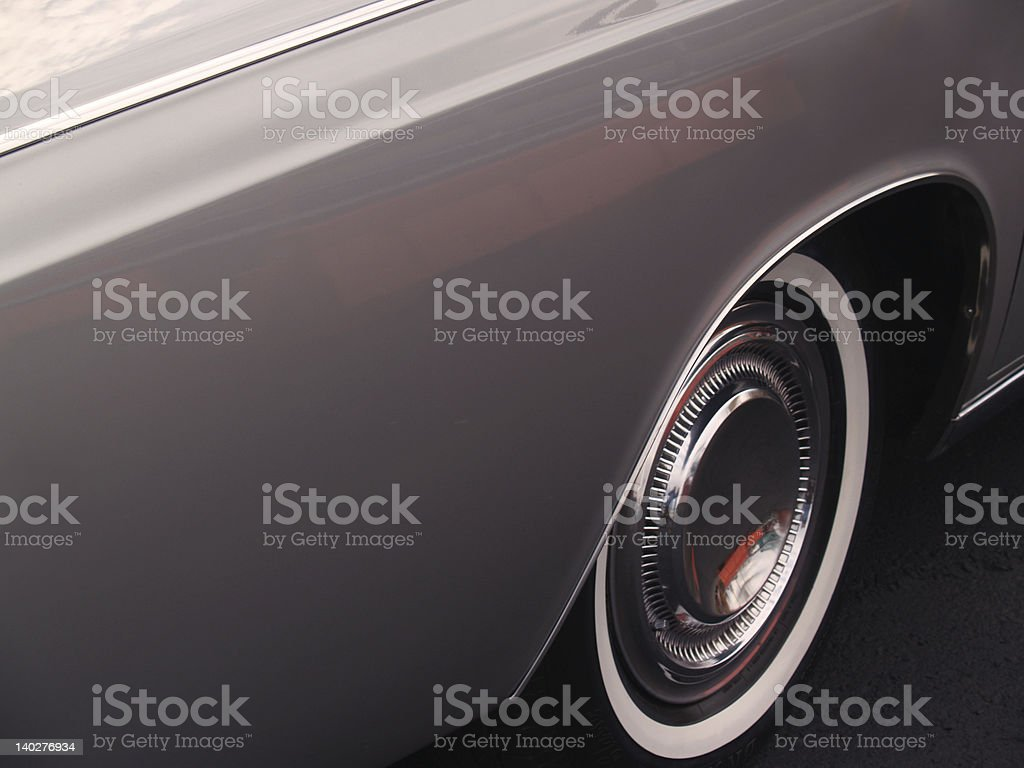 Lincoln Continental 1968 Fender Side-view and Copy Space stock photo