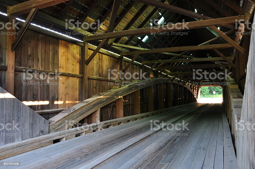Lincoln Covered Bridge, Vermont stock photo