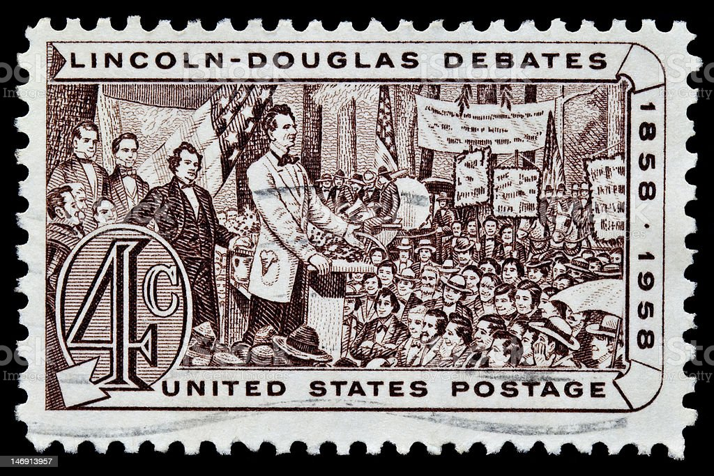 Lincoln - Douglas Debate Postal Issue royalty-free stock photo