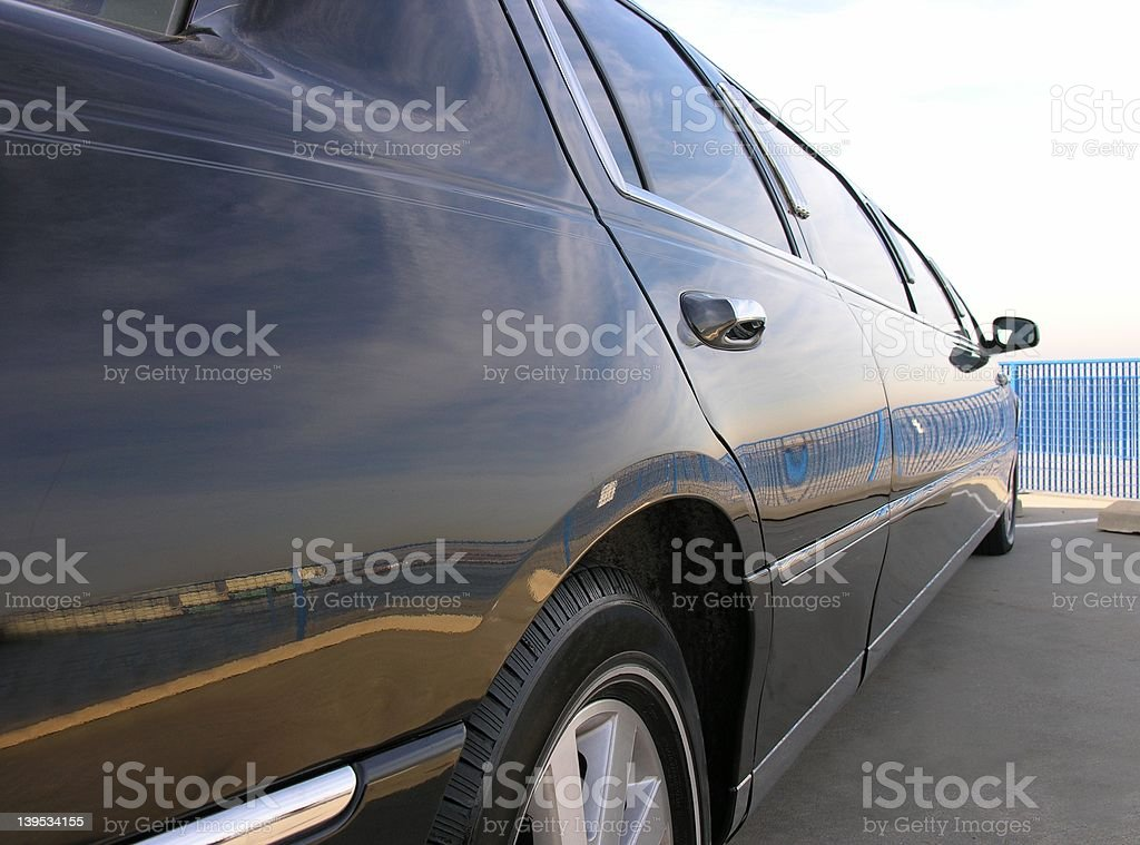 Lincoln Limousine Side View stock photo
