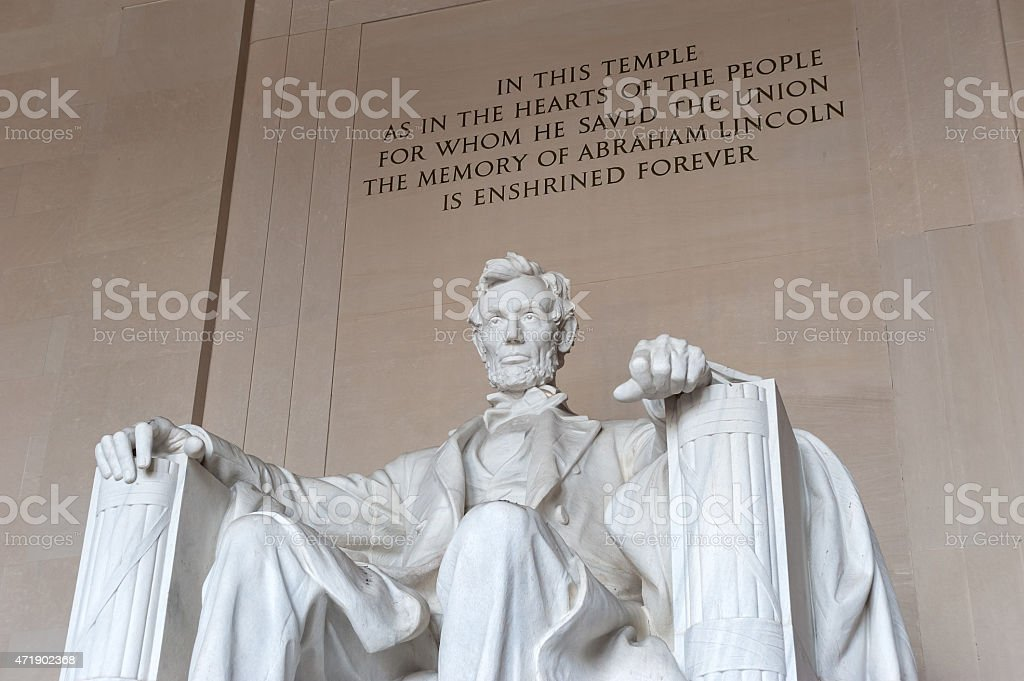Lincoln Memorial, Abraham Lincoln, Statue, Federal Building, Washington DC stock photo
