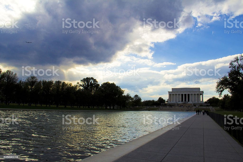 Lincoln Memorial across the Reflection Pool stock photo