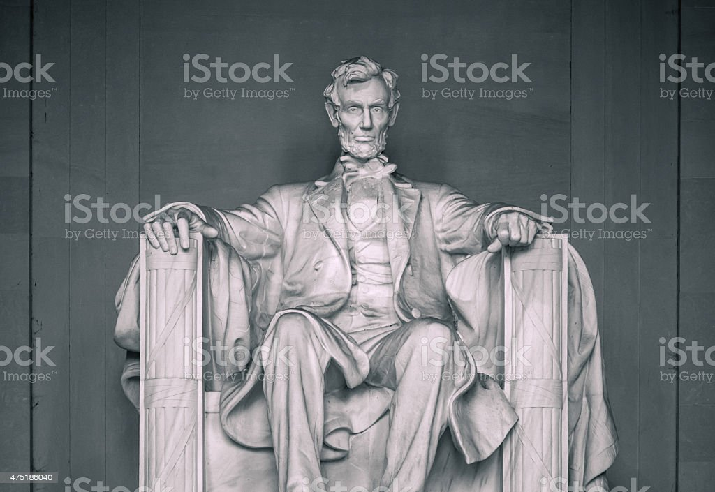 Lincoln Memorial along National Mall in Washington DC stock photo