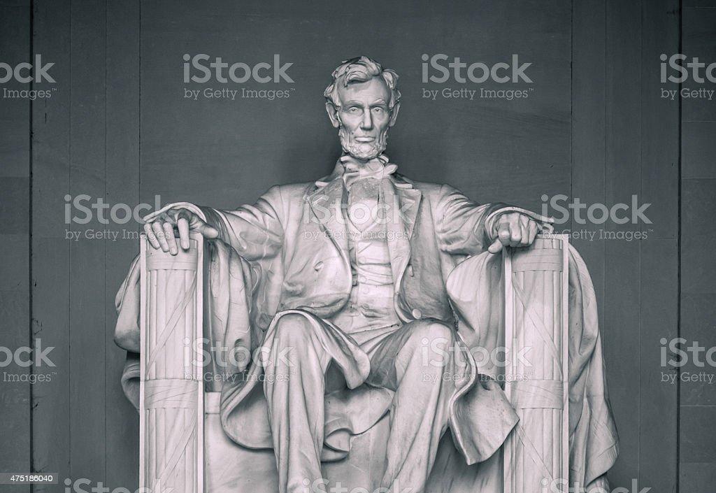 Lincoln Memorial along National Mall in Washington DC stock photo