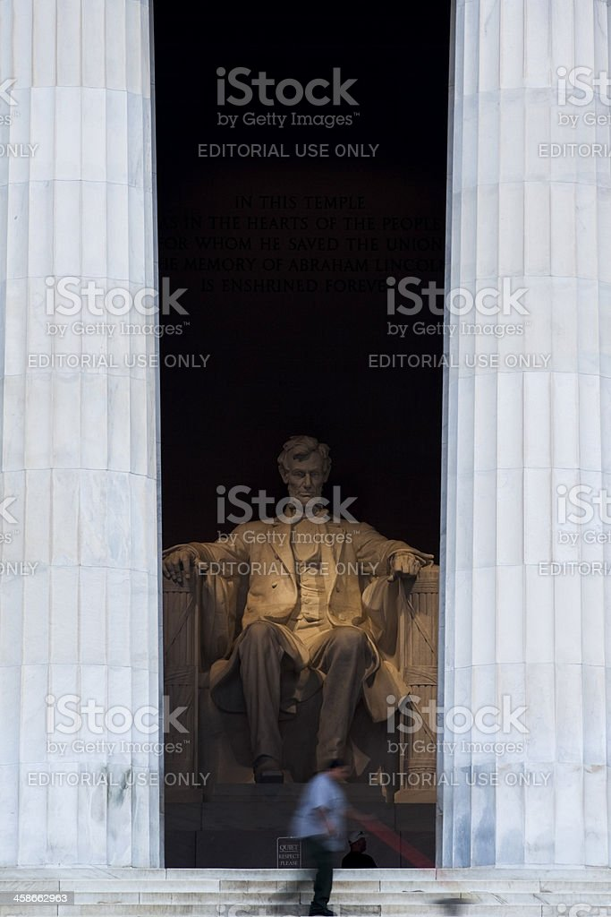 Lincoln Memorial At Dawn stock photo