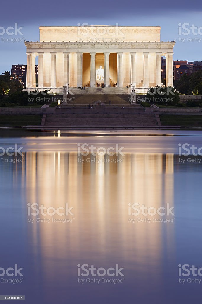 Lincoln Memorial At Dusk stock photo
