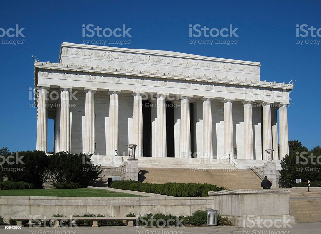Lincoln Memorial at summer time royalty-free stock photo