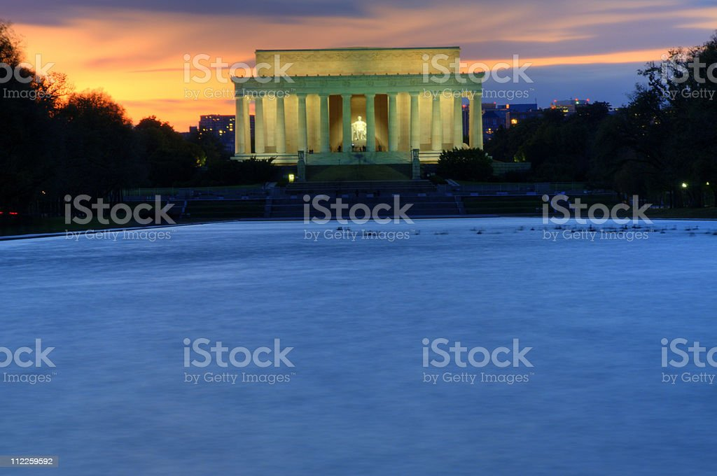 Lincoln Memorial at Sunset royalty-free stock photo