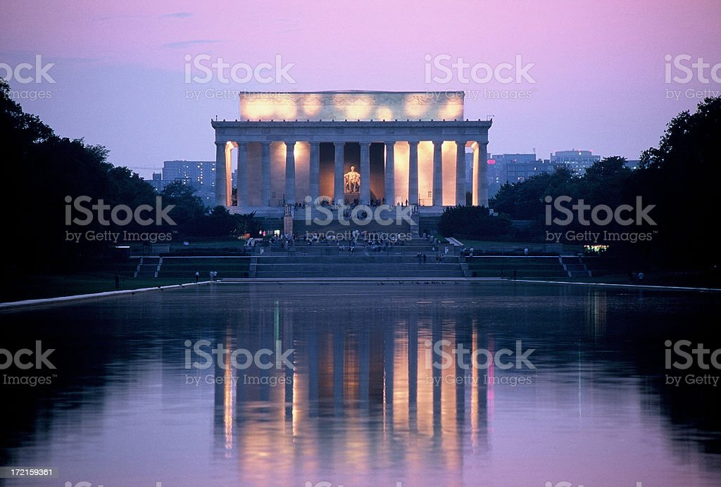 Lincoln Memorial at Washington DC royalty-free stock photo