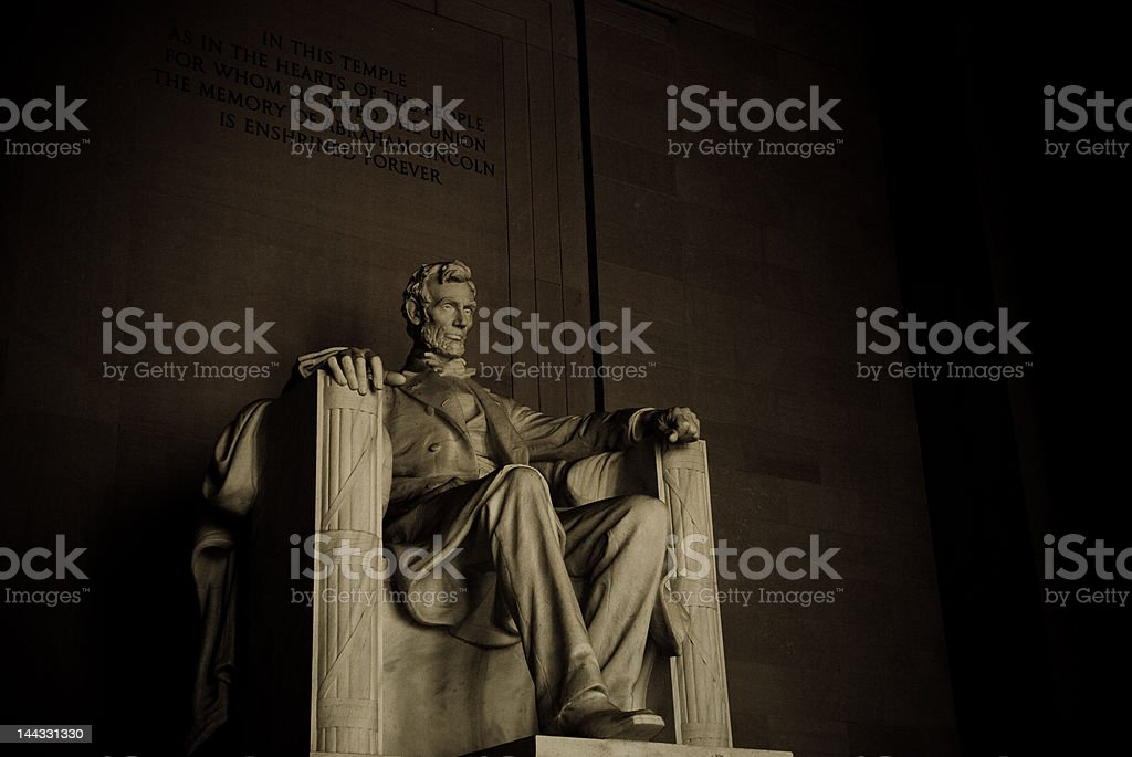 Lincoln Memorial by Night stock photo