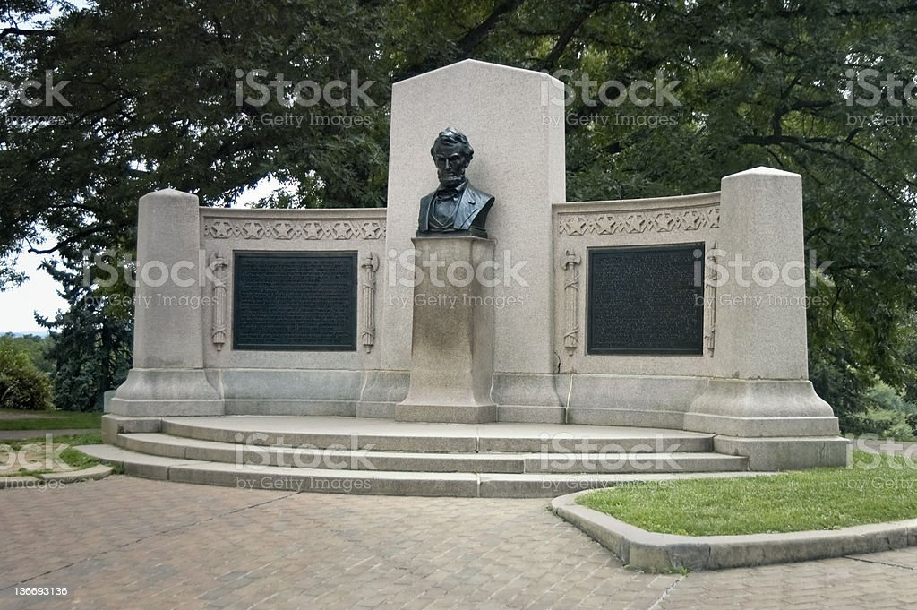 Lincoln Memorial, Gettysburg, Pennsylvania stock photo