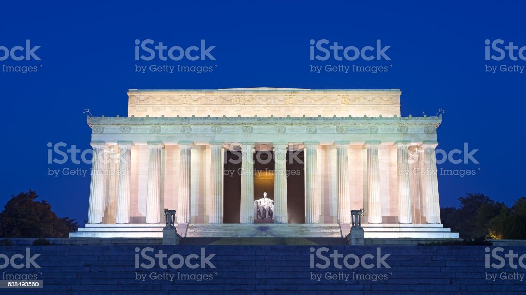 Lincoln Memorial in the National Mall, Washington DC. stock photo