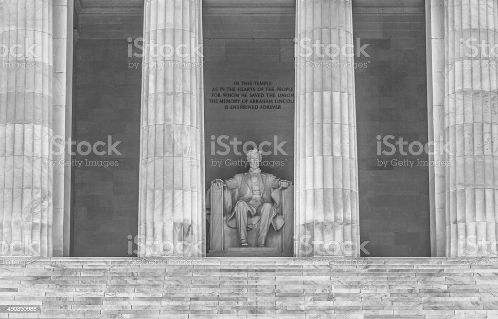 Lincoln Memorial in Washington DC - Close Up Duotone stock photo