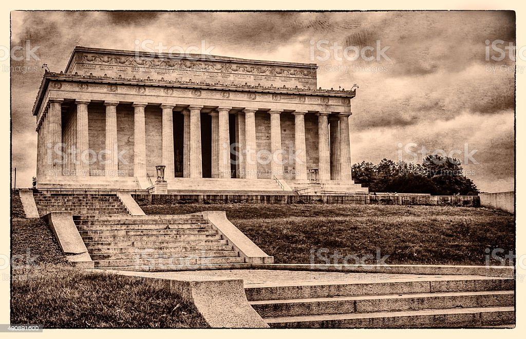 Lincoln Memorial in Washington DC - Historic Postcard stock photo