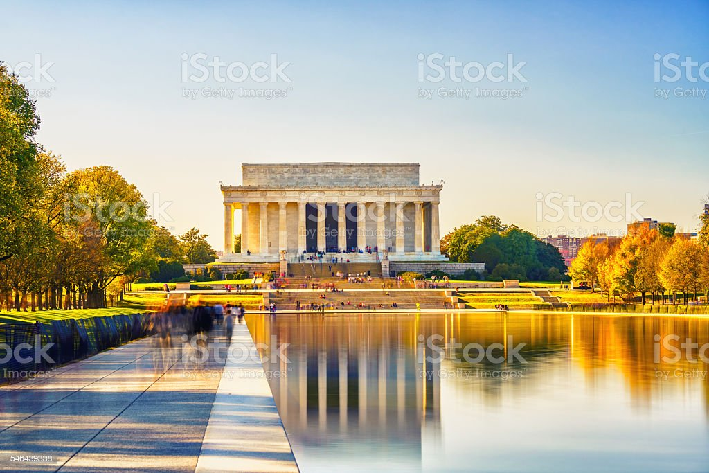 Lincoln memorial in Washington DC stock photo